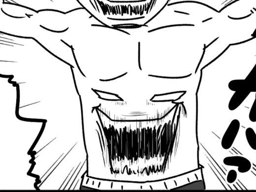 【4コマ漫画】人面疽ボクサー