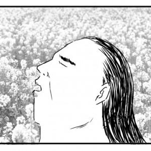 【4コマ漫画】マゲを結ってない力士