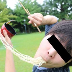 【発見】そうめんをダイナミックに食べているような写真を撮る方法