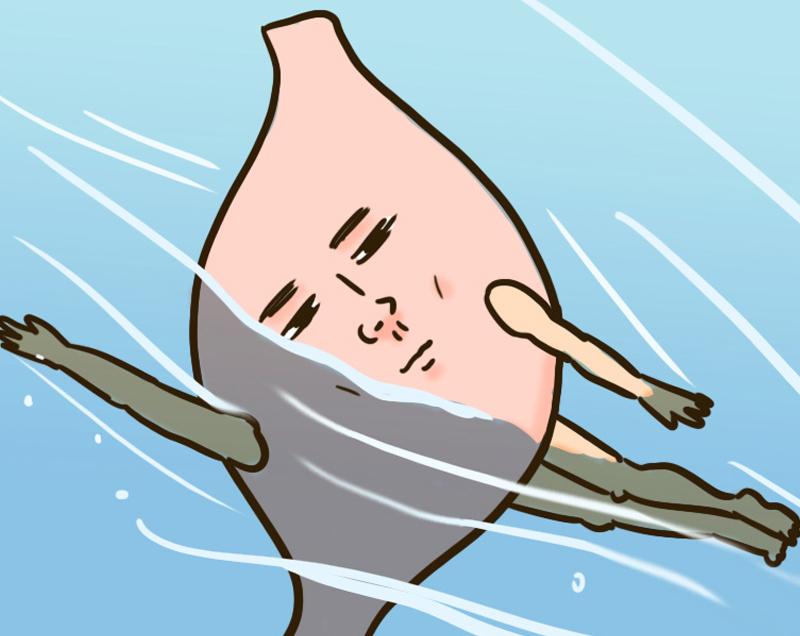 胃が主人公の4コマ漫画集