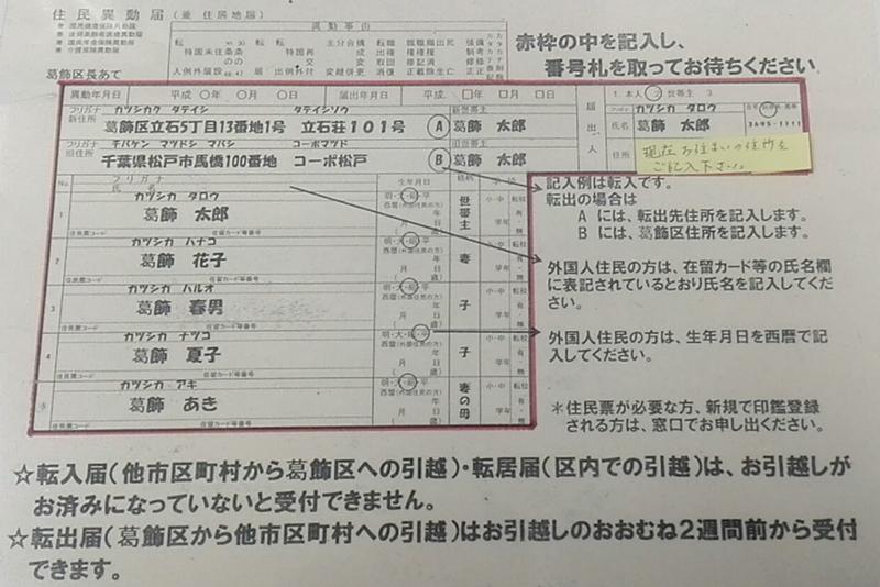 東京都の区役所を全部周り、記入例に書かれた名前を全部調べてきた