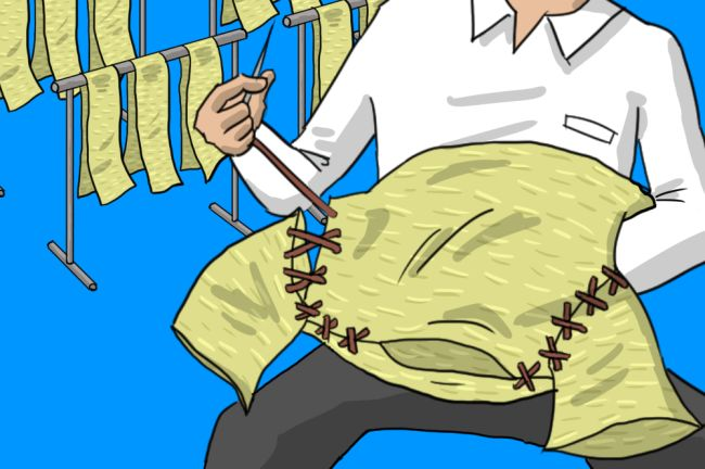 Tシャツ縫い